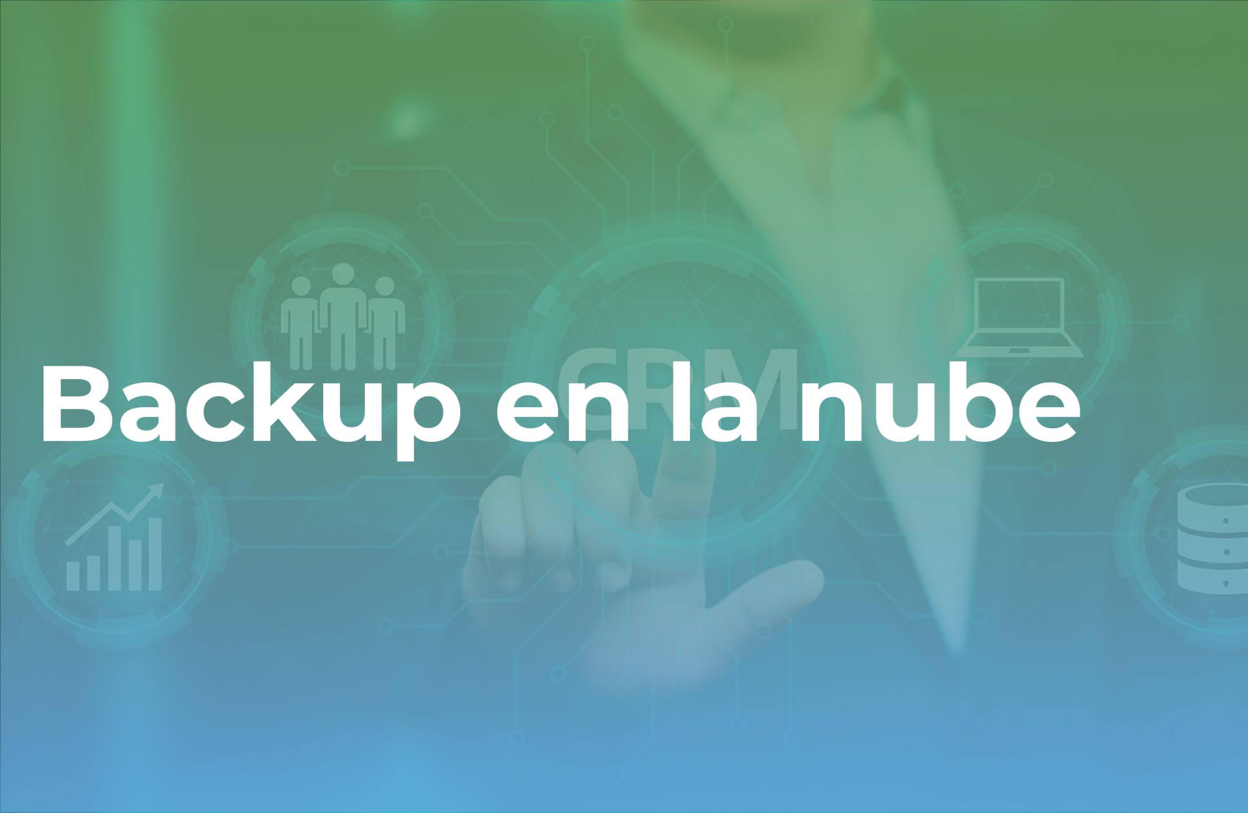 venta cruzada Backup para oferta contrato soporte tecnológico